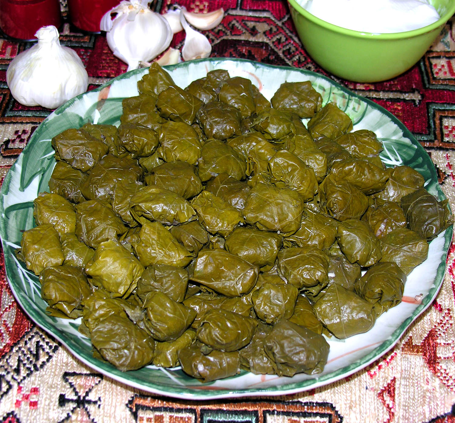 Stuffed Grape Leaves - Yarpaq Dolmasi