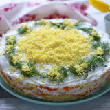 Mimoza Salatı | AZCookbook.com by Feride Buyuran