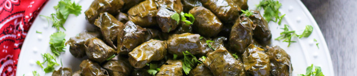 Azerbaijani-Style Stuffed Grape Leaves, Dolma (Video)
