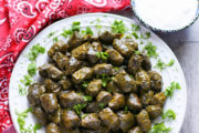 Azerbaijani-Style Stuffed Grape Leaves, Dolma (Video) | AZCookbook.com