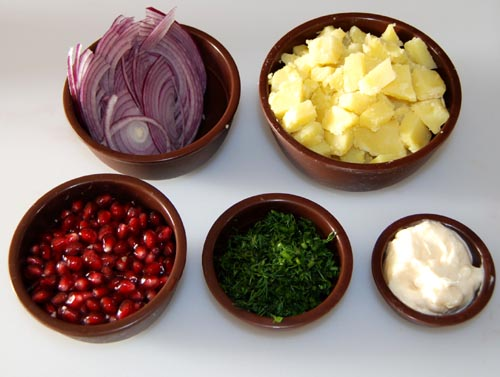 AZ Cookbook | Pomegranate Salad  Ingredients
