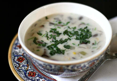 Mushroom Soup with Herbs