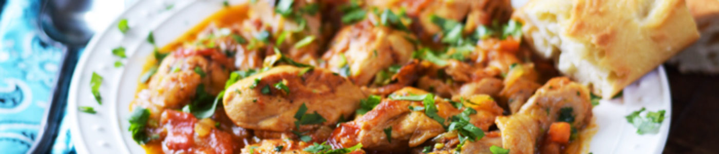 Georgian-Style Chicken with Tomatoes and Herbs - Chakhokhbili (Video)