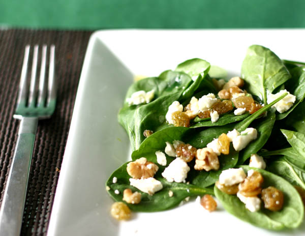 AZ Cookbook | Spinach Salad with Walnuts