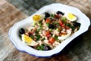 Turkish White Bean Salad (Fasulye Piyazi)