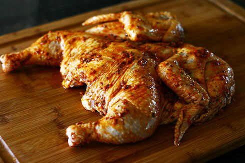Flattened Spiced-Herbed Chicken