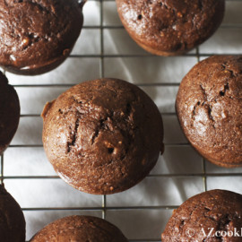 Chocolate Curd Cheese (or Ricotta) Muffins