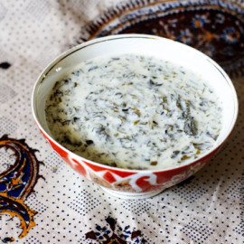 Azerbaijani Yogurt Soup with Fresh Herbs (Dovgha) | AZ Cookbook