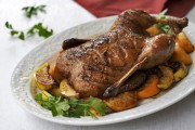 Roast Duck with Pomegranate-Honey-Orange Glaze