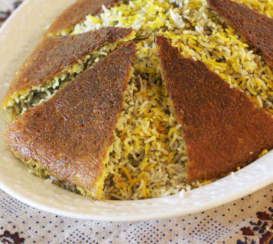 Rice Crust for Under Rice Pilaf
