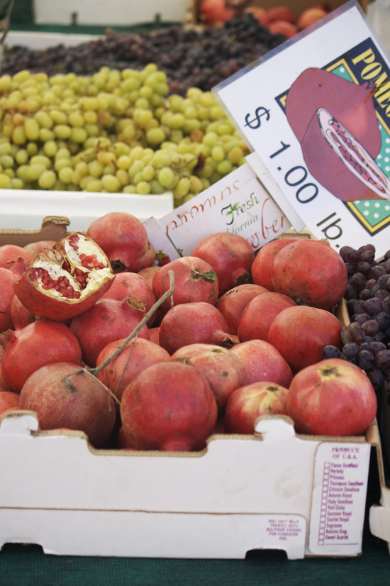 Pomegranates at Larchmont Farmers Market