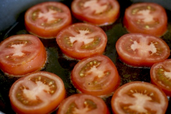 Frying Tomatoes