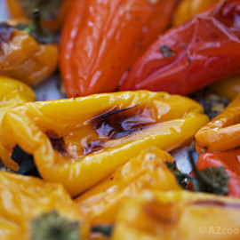 Roasted Mini Sweet Peppers with Garlic and Thyme