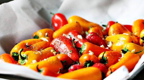 Roasted Sweet Peppers with Garlic and Thyme