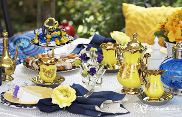 AZ Cookbook Tablescapes - Tea Party