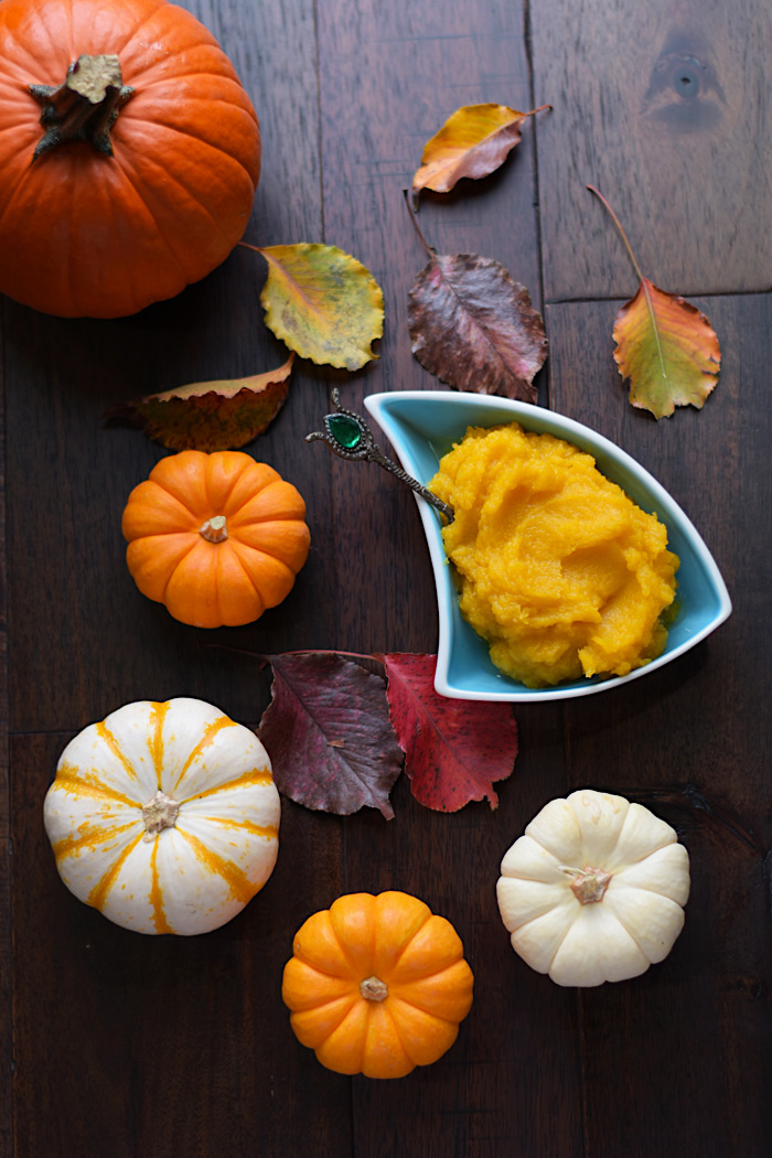 Homemade Pumpkin Puree | AZCookbook.com by Feride Buyuran