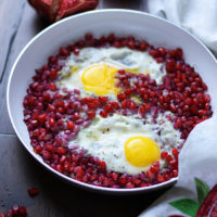 Pomegranate with Eggs, Narnumru | AZCookbook.com by Feride Buyuran