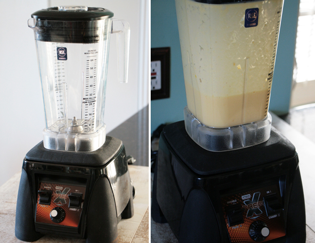 Making Mango Lassi in a Blender