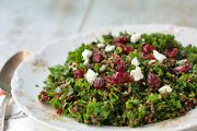 Kale and Quinoa Salad with Dried Cranberries