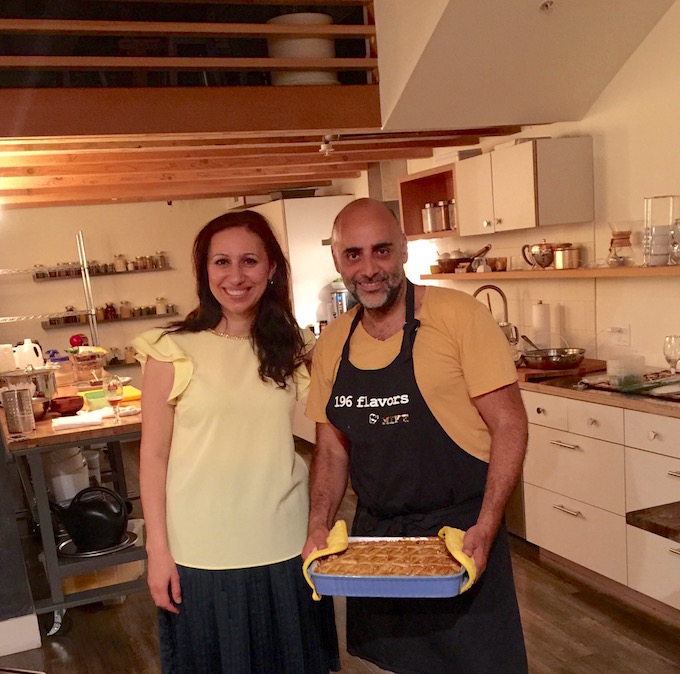 Azerbaijani Cooking Class Hosts Mike and Feride