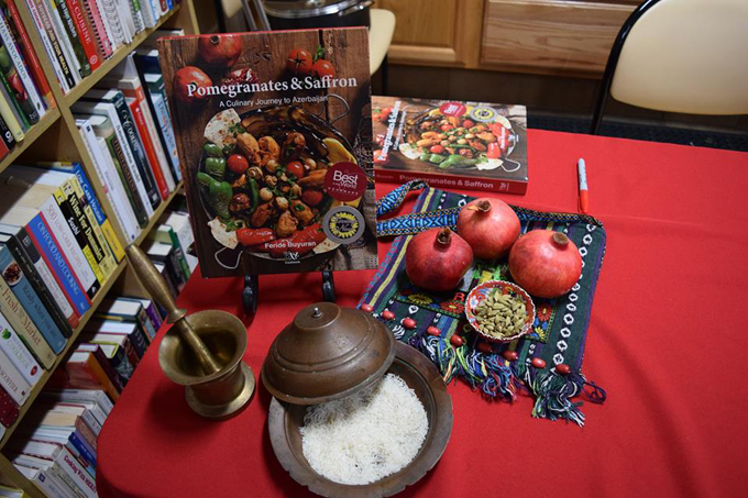 Pomegranates and Saffron Signing Table Display