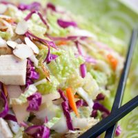 Napa Cabbage and Tofu Salad