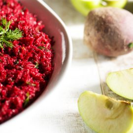 Bulgur Salad with Beets and Apples