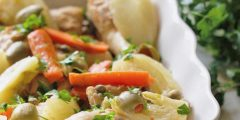 Greek Chicken with Carrots and Fennel