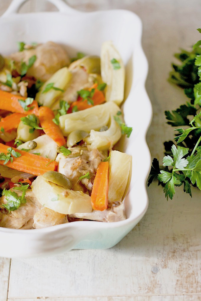 Greek Chicken with Carrots and Fennel   AZ Cookbook