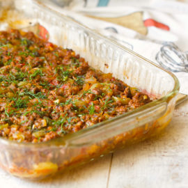 Zucchini and Ground Beef Casserole | AZCookbook.com