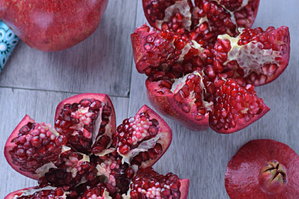 How to Cut and De-Seed a Pomegranat | AZCookbook.com by Feride Buyuran