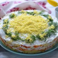 Mimosa Salad   AZCookbook.com by Feride Buyuran