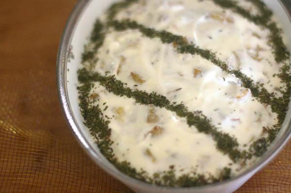Eggplant Salad with Yogurt and Mint