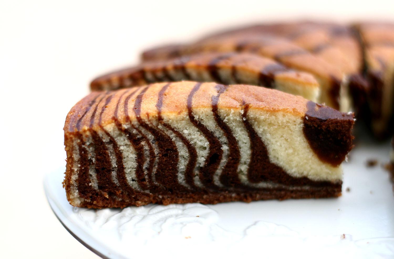 Zebra Cake | AZCookbook.com