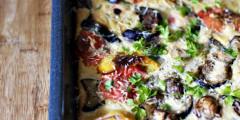 Roasted Vegetables Baked in Golden Batter | AZ Cookbook