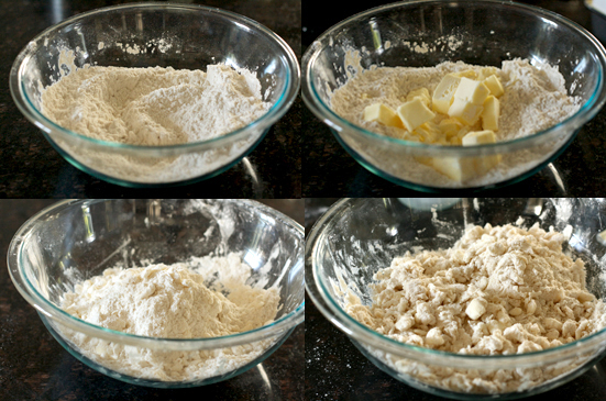 Cut in butter: Add butter and quickly cut in with a pastry blender or ...