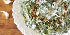 Purslane Salad with Yogurt Dressing