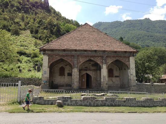 Historic Mosque in Ilisu Village, Gakh