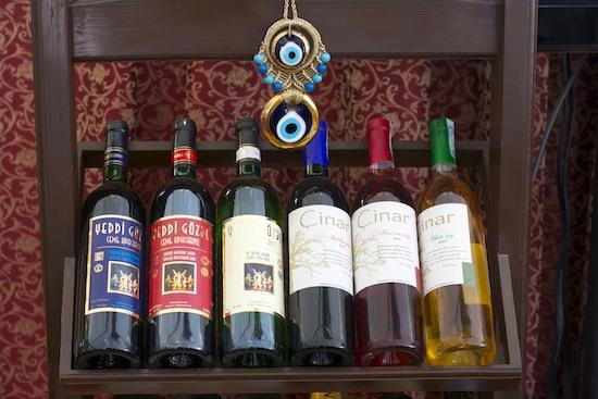 Local Wine Display in Baku