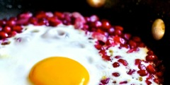 Pomegranate with Eggs