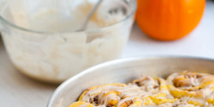 Pumpkin-Pecan Rolls with Maple Glaze