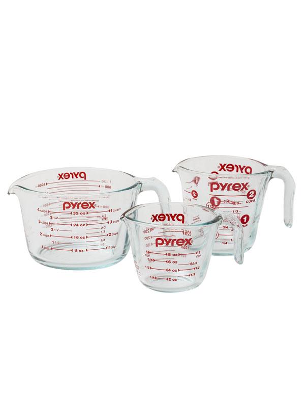 Pyrex Glass Measuring Cups | AZ Cookbook