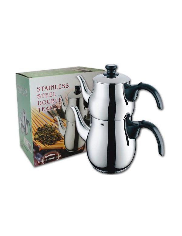 Stainless Steel Double Teapot | AZ Cookbook