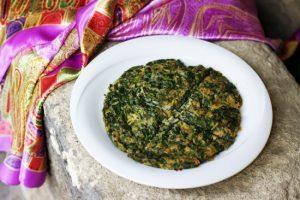 Fresh Herbs Omelet (Kyukyu)   AZ Cookbook