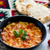 Azerbaijani-Style Eggs with Tomatoes