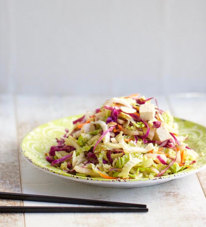 Napa Cabbage and Tofu Salad | AZcookbook.com