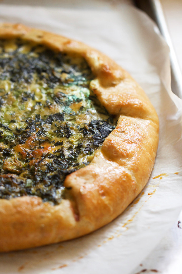 Swiss Chard and Spinach Crostata with Fennel Seed Crust
