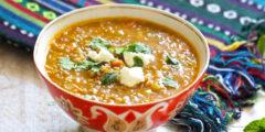 Tajik Green Lentil and Rice Soup | AZCookbook.com