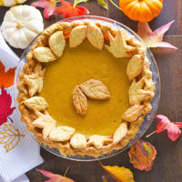 Pumpkin Pie | AZCookbook.com with Feride Buyuran